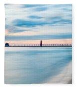 Grand Haven Pier - Smooth Waters Fleece Blanket
