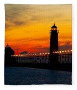 Grand Haven Sunset Fleece Blanket