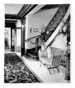 Grand Island Mansion Mosher Ranch 7 B And W Fleece Blanket