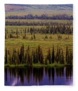 Grand Mountain Reflections Fleece Blanket