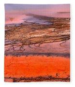 Grand Prismatic Algae Mat Panorama Fleece Blanket