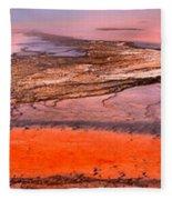 Grand Prismatic Panoramic Abstract Fleece Blanket