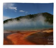 Grand Prismatic Spring At Yellowstone's Midway Geyser Basin Fleece Blanket