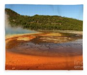 Grand Prismatic Spring  Fleece Blanket