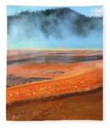 Grand Prismatic Spring, Yellowstone Fleece Blanket