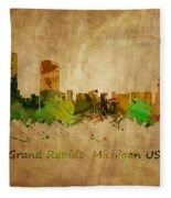 Grand Rapids  Michigan Fleece Blanket
