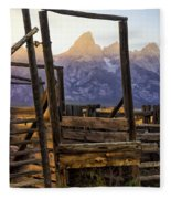 Grand Teton Framed Fleece Blanket