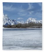 Grand Tetons And Snake River From Oxbow Bend 16-9 Fleece Blanket