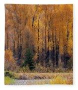 Grand Tetons Fall Fleece Blanket