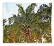 Grand Turk Palms On The Beach Fleece Blanket