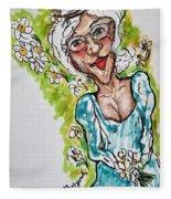 Grandma Hippie Fleece Blanket