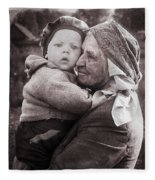 Grandmother And Child Fleece Blanket
