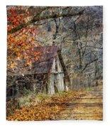 Grandpa's Old Barn Fleece Blanket