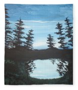 Grandpa's Piney Pond Fleece Blanket