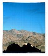 Grandstand At Racetrack Playa Death Valley Fleece Blanket