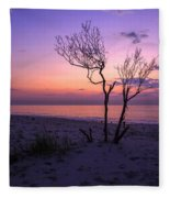 Grandview Beach Sunrise Fleece Blanket