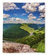 Grandview West Virginia Fleece Blanket
