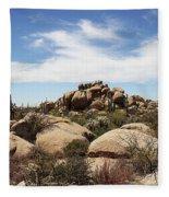 Granite Boulders And Saguaros  Fleece Blanket