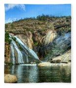 Granite Mountain Waterfall Panorama Fleece Blanket