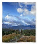 Granite Park - Glacier National Park Fleece Blanket