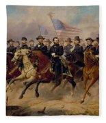 Grant And His Generals Fleece Blanket