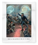 Grant At The Capture Of The City Of Mexico Fleece Blanket