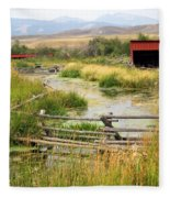 Grants Khors Ranch Vertical Fleece Blanket
