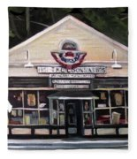 Granville Country Store Front View Fleece Blanket