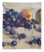 Grape And Peach Fleece Blanket