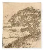 Grape Arbor On Brown Fleece Blanket