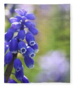 Grape Hyacinth II Fleece Blanket