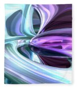Grapes And Cream Abstract Fleece Blanket