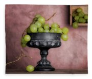 Grapes Centerpiece Fleece Blanket