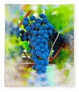 Grapes Of The Vine Fleece Blanket