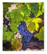 Grapevine With Texture Fleece Blanket