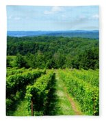 Grapevines On Old Mission Peninsula - Traverse City Michigan Fleece Blanket