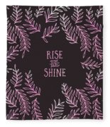 Graphic Art Rise And Shine - Pink Fleece Blanket