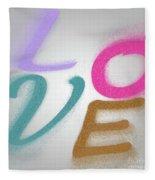 Graphic Display Of The Word Love  Fleece Blanket