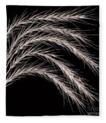 Grass Curve Coppertone Fleece Blanket