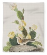 Grass Finch Or Bay Winged Bunting Fleece Blanket