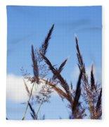 Grass Florets Fleece Blanket