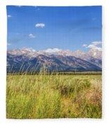 Grass In The Wind Fleece Blanket