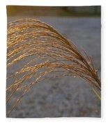 Grassflowers In The Setting Sun Fleece Blanket