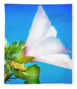 Grasshopper And Blue Sky Fleece Blanket