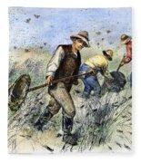 Grasshopper Plague, 1888 Fleece Blanket