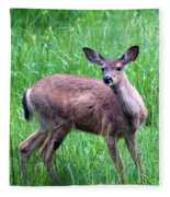 Grassy Doe Fleece Blanket
