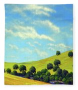 Grassy Hills At Meadow Creek Fleece Blanket