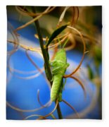 Grassy Hopper Fleece Blanket