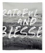 Grateful And Blessed- Art By Linda Woods Fleece Blanket by Linda Woods