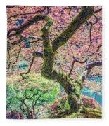 Gratitude Tree Fleece Blanket